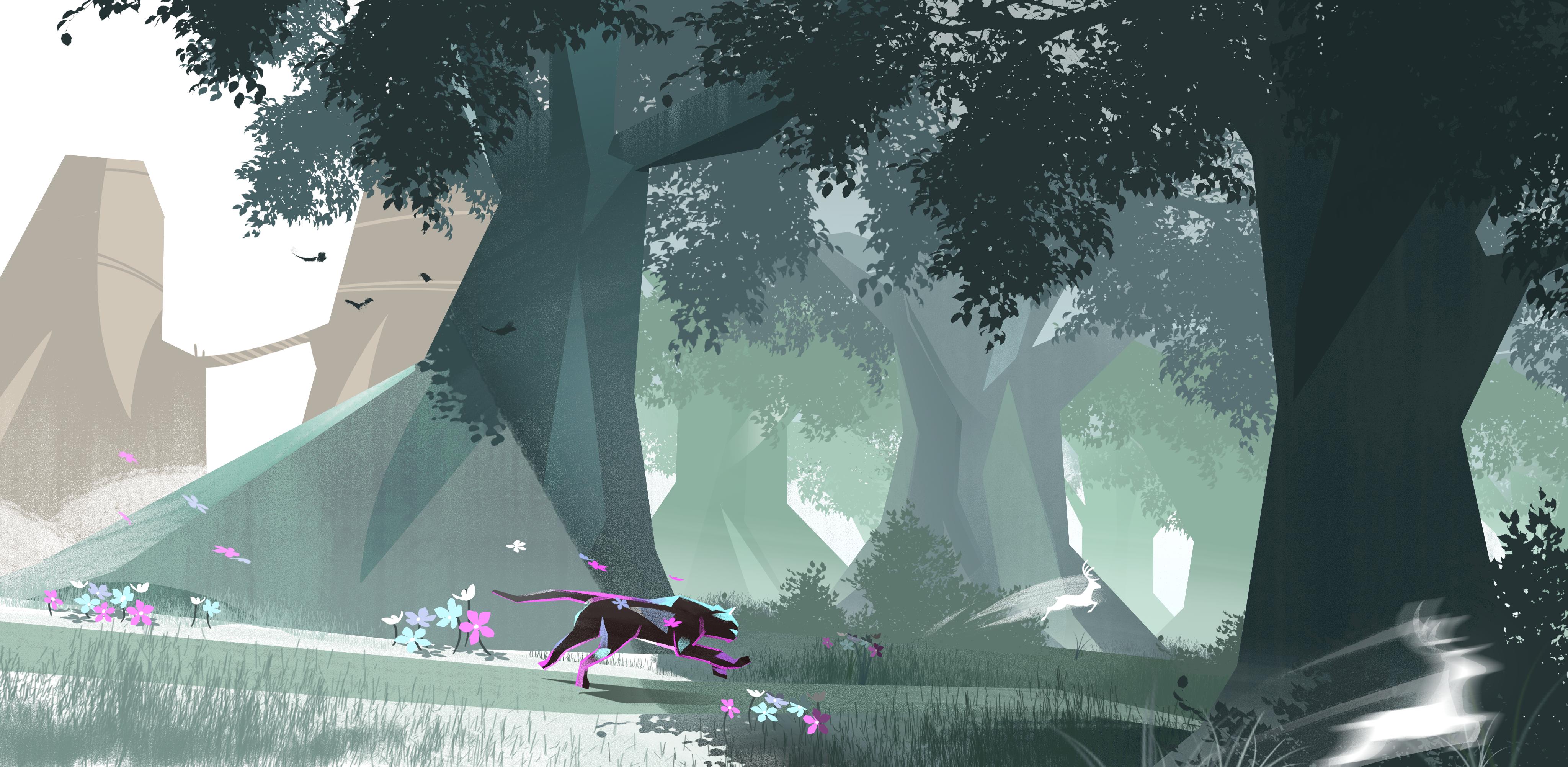 puma_forest_environment_dark